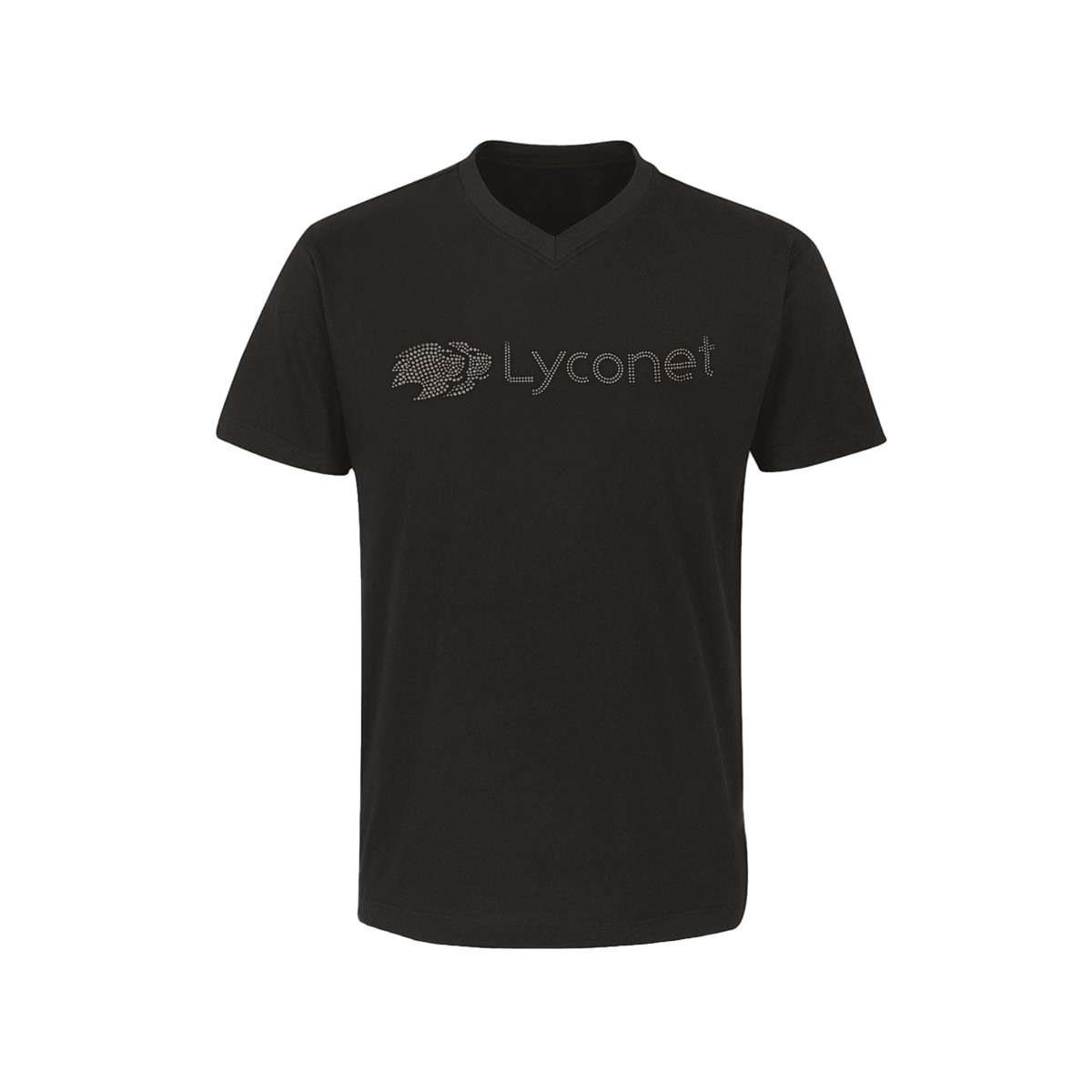 Lyconet shirt in black with clear rhinestones for Women