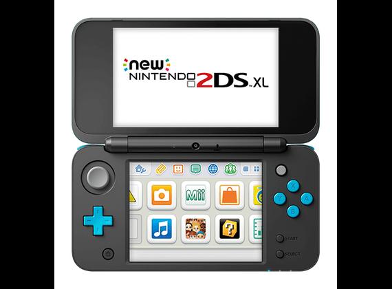 New Nintendo 2DS XL black / turquoise