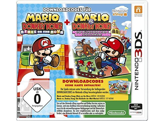 Nintendo 3DS - Mario & Donkey Kong: Minis on the Move & The Minis March Again [Download-Code, kein Datenträger enthalten]