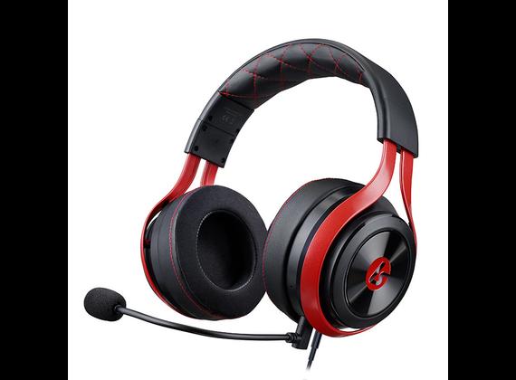 LucidSound LS25 Esports Gaming Headset, Wired, Black / Red