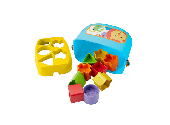 Fisher-Price - Babies First Building Blocks Baby Toy Form Sorting Play with Spielubels And Bucket To Stay
