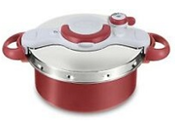 Tefal Clipsominut Duo 5L Red, Stainless Steel