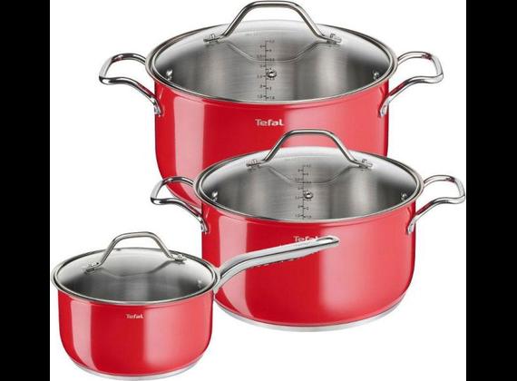 Tefal INTUITION COLORS 6-piece pot set B903S374