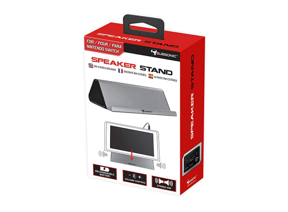 Subsonic stand with stereo speaker for Nintendo Switch, gray