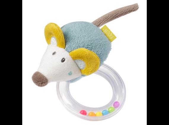Fehn 065138 Little Castle - Rassel Ring Mouse
