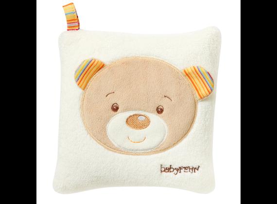 Fehn 160932 Rainbow - Heat Cushion with Cherry Core Filling 16x16 cm Teddy