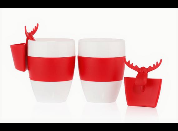 Koziol gift set cups incl. Teabag holder 4
