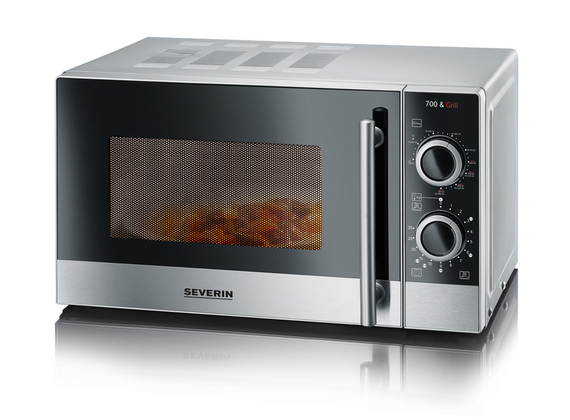 Severin microwave with grill, silver