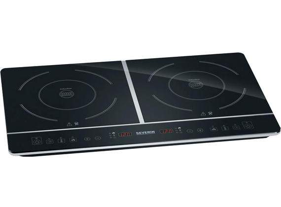 Severin double induction hob, black