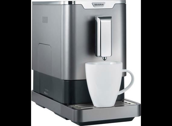 Severin coffee machine, metallic gray / black