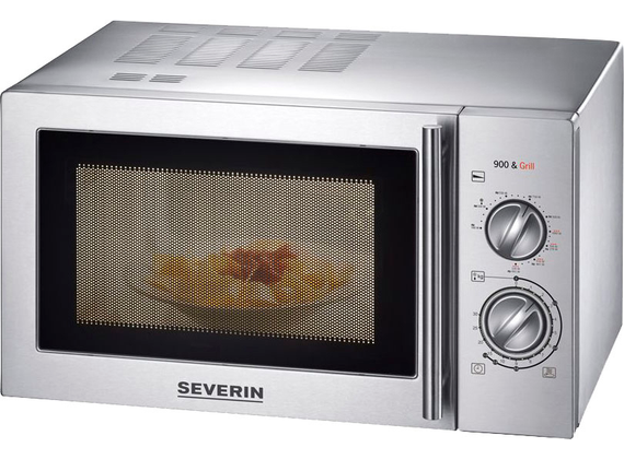 Severin microwave with grill - stainless