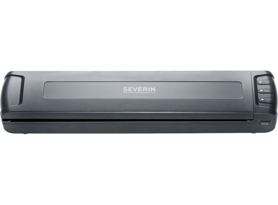 Severin compact vacuum device, black / stainless steel