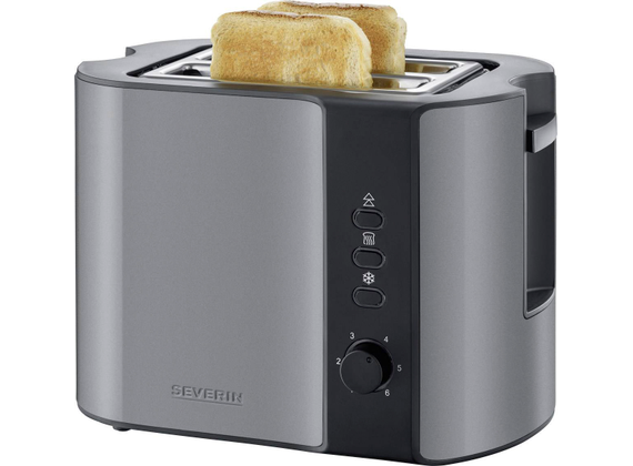 Severin automatic toaster, metallic gray / black