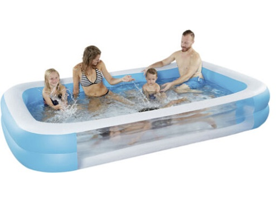 Happy People - Family Pool with View Window & Floor Drain Valve