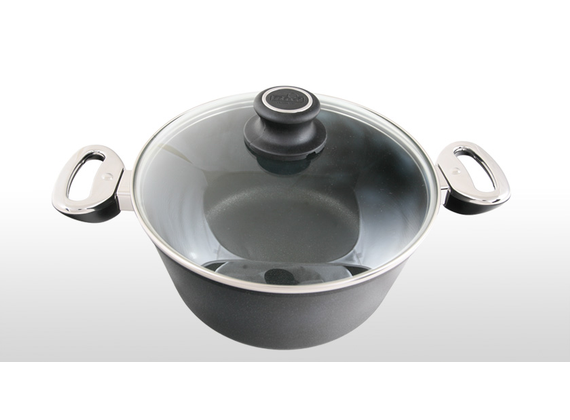 BAF cooking set with cooking pot, braising pan and casserole coated cast aluminum in 24cm diameter