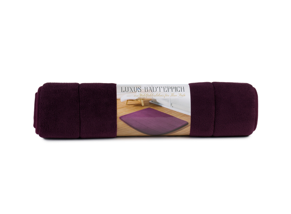 Luxury bathroom rug, size: 50 x 70 cm, color berry