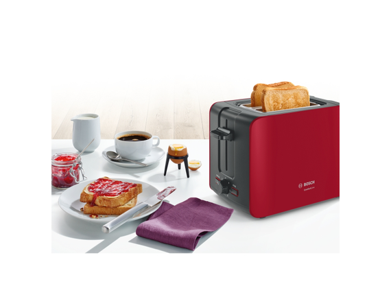Bosch toaster anthracite, red 1090 W