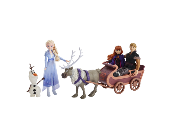 Disney Frozen 2 Adventurous sleigh ride with Elsa, Anna, Kristoff and Sven Olaf