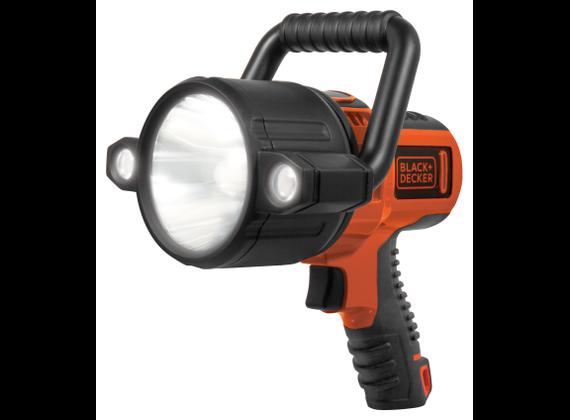 BLACK + DECKER, rechargeable LED Spotlight, 10W black / orange