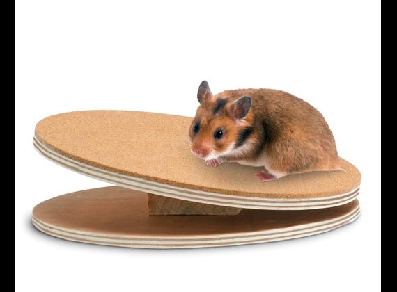 Karlie Bogie Disc Wooden Slice for Rodent 25cm, braun