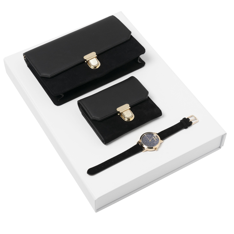 Cacharel Set Montmartre Black (Wallet, Wristwatch & Ladies Bag)