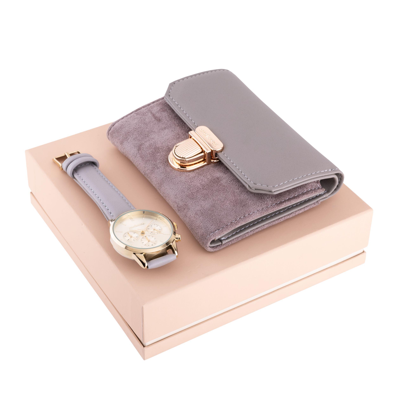 Cacharel Set (Wallet & Wrist Watch)