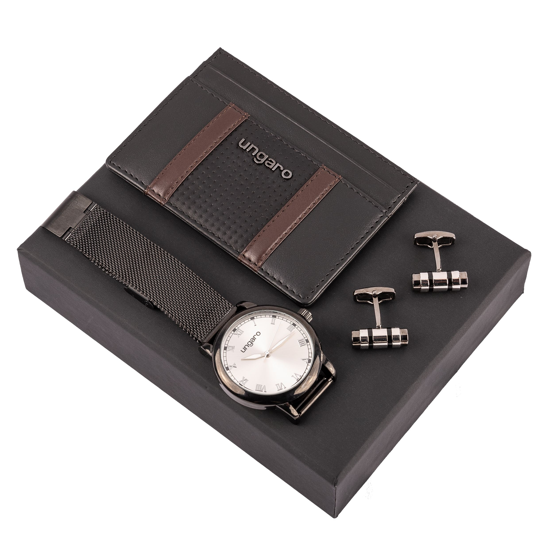 Ungaro Set (business card case, wristwatch & cufflinks)