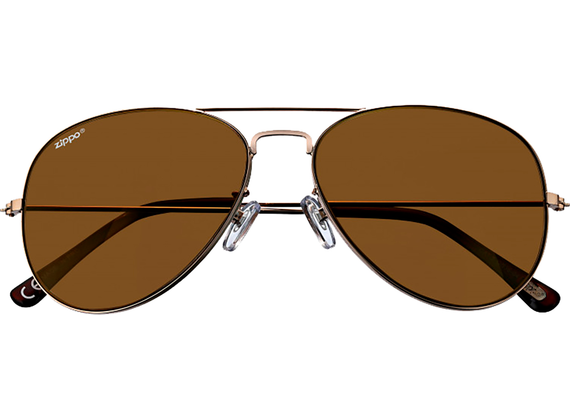 Zippo Gold Flash Pilot Sunglasses