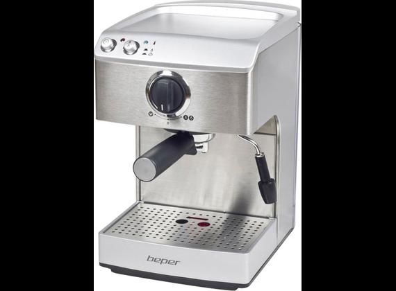 Beper espresso machine, stainless steel 90.521