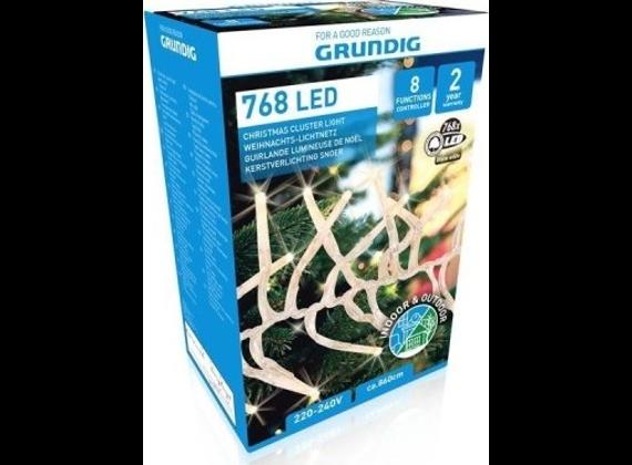 Grundig Christmas chain / lights 768XLED for outside + inside, white