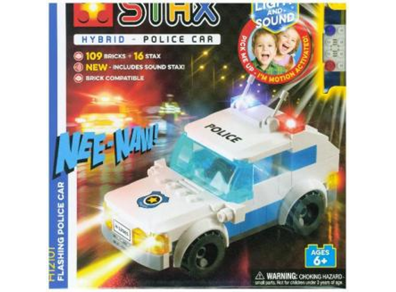 Light-Stax flashing police car