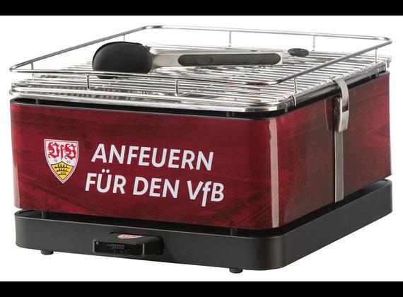 Feuerdesign Teide - VfB Stuttgart Charcoal table grill with fan